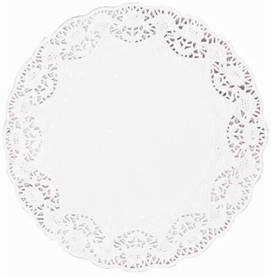"10"" White Doilies Round 10 CT"