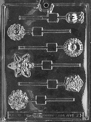 Assort Flowers Lolly Mold