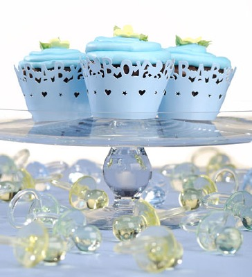 Baby Boy Cupcake Wraps 24 CT
