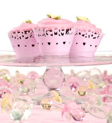 Baby Girl Cupcake Wraps 24 CT