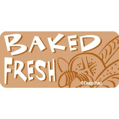 Baked Fresh Promo Label (500)