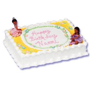 Ballarina Cake Kit African American Set of 2 Cake Topper