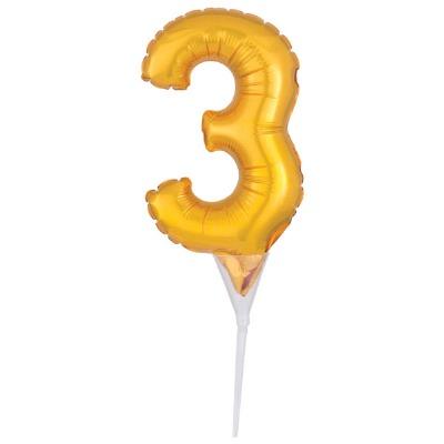 Balloon Cake Pick Gold 3