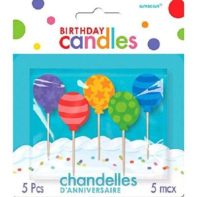Balloon Candles Set of 5