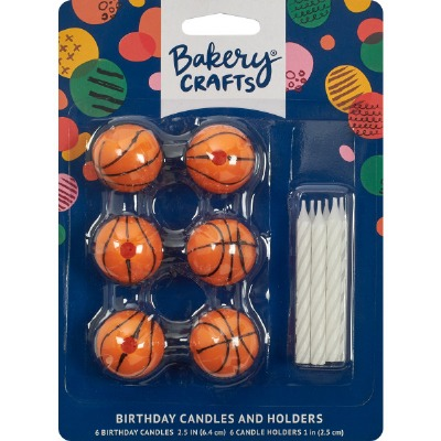 Basketball Candle Holder 6 CT