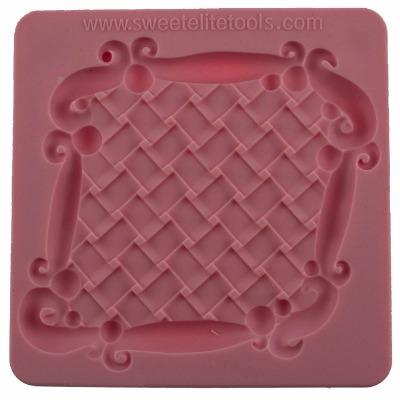 Basketweave Plaque Silicon Mld