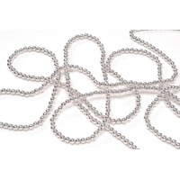 """Beads 4MM Silver 60"""""""