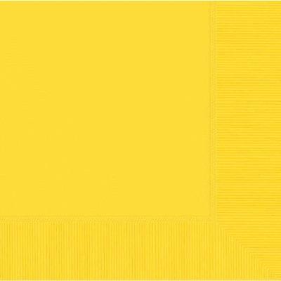 Beverage Napkin 50 CT Yellow