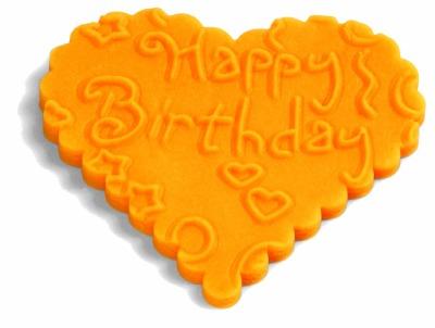 Impression Rolling Pin Birthday Love