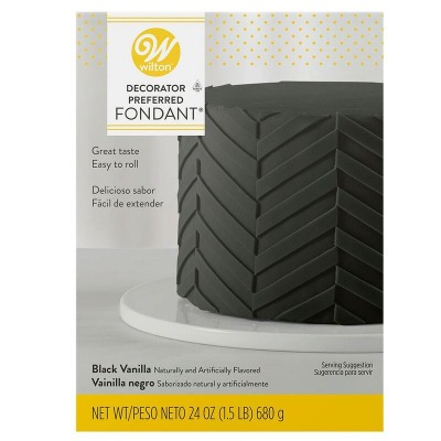 Wilton Black Fondant 24 OZ
