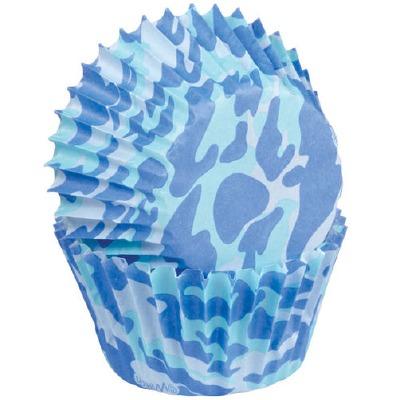 Blue Camo Mini Cup 100 CT