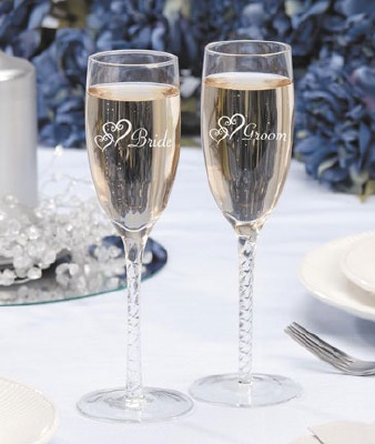 Bride/Groom Champagne Glasses