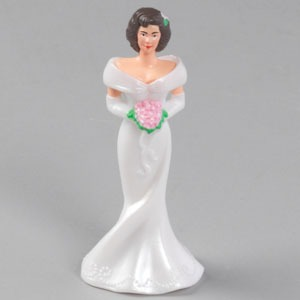 Bridesmaid Cake Topper - White - 2 in a pack