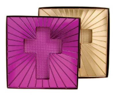 Brown Box Purple Cross Insert
