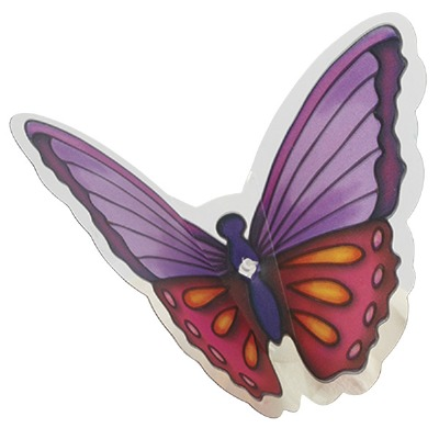 Cake Pick Butterfly Warm 12 CT