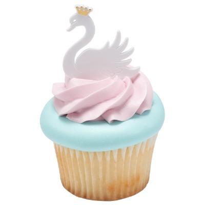 Cake Picks Mini Princess Swan