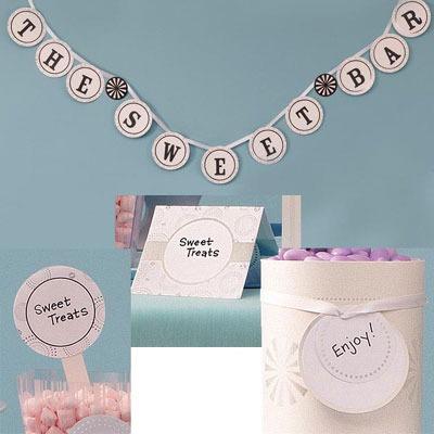 Candy Buffet Decoration Kit