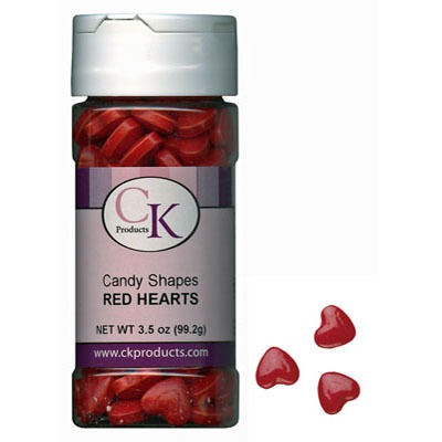 Candy Shapes Hearts Red 3.5 OZ