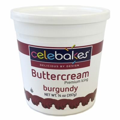Celebakes Burgundy Buttercream Icing 14 oz.