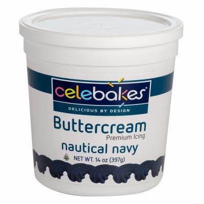 Celebakes Nautical Navy Buttercream Icing 14 oz.
