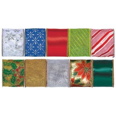 Christmas Wire Fabric Ribbon