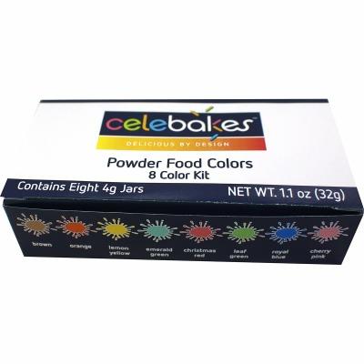Celebakes 8 Color Powder Color Kit