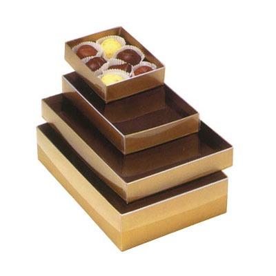 Clear Lid Gold Base Box 1/2 LB