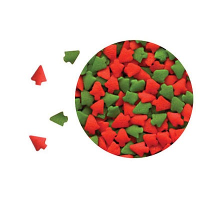 Confetti Red / Green Trees 5 LBS