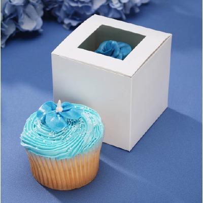 "Cupcake Box Wht  3.5"" X 3.5"""