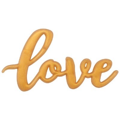 Cupcake Layon Cake Topper Gold Love