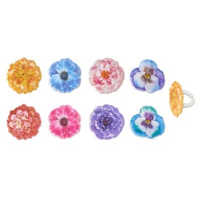 Cupcake Rings Garden Flowers