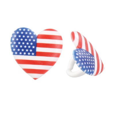 Cupcake Rings Cake Topper I Love The Usa