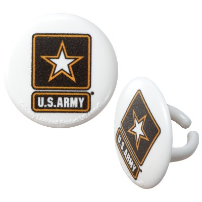 Cupcake Rings Cake Topper United States  Army