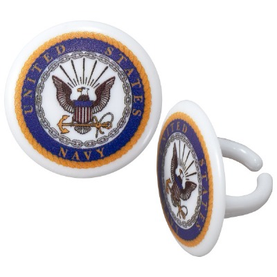 Cupcake Rings Cake Topper United States Navy