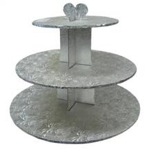 Cupcake Stand 3-Tier RND SIL
