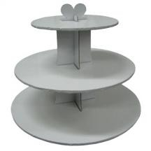 Cupcake Stand 3Tier RND White