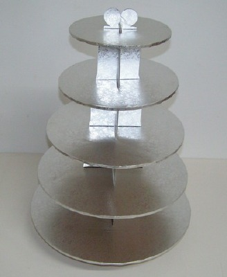 Cupcake Stand 5-Tier Silver