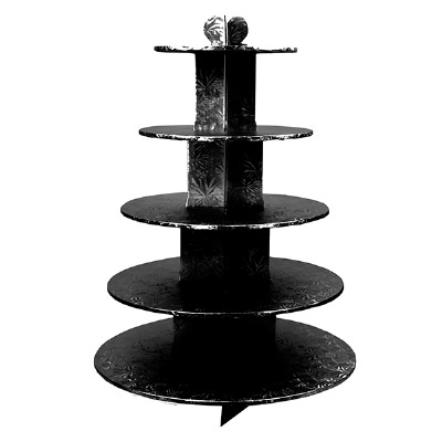 Cupcake Stand 5Tier RND Black