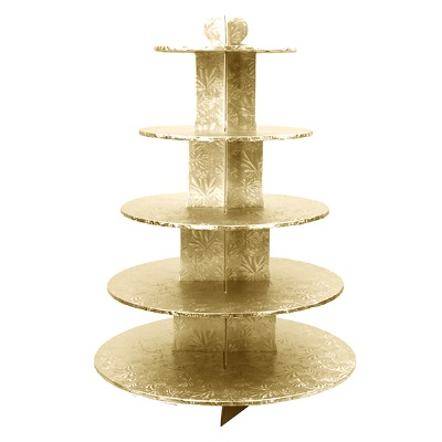 Cupcake Stand 5Tier RND Gold