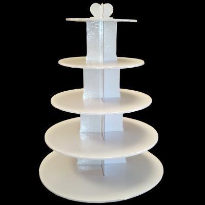 Cupcake Stand 5Tier RND White