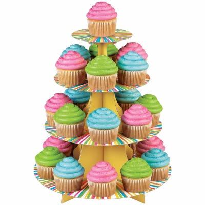 Cupcake Stand Colo Wheel 4Tier
