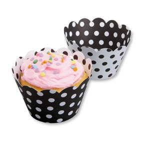 Cupcake Wrap Black White 50 CT
