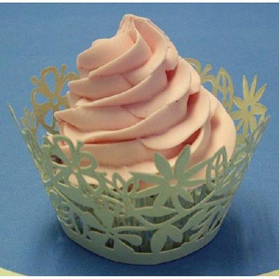 Cupcake Wrap Floral Green 12CT