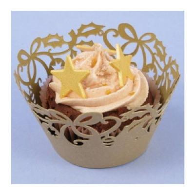 Cupcake Wrap Gold 12 CT