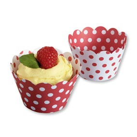 Cupcake Wrap Red & White 50 CT
