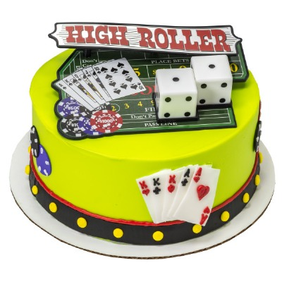 Decoset Casino Night Out Cake Topper