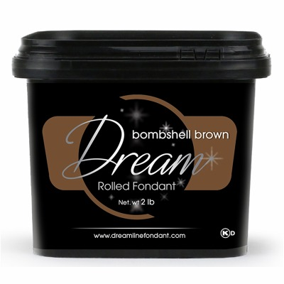 Dream Fondant Bombsell Brown 2 Pounds