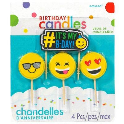 Emoji Candles Set of 4