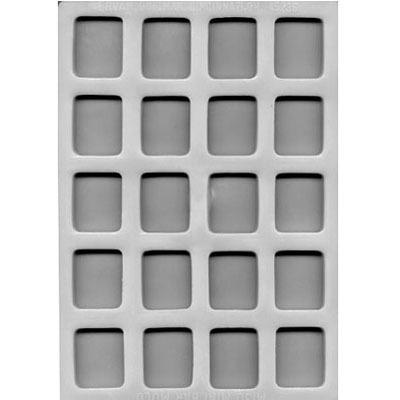 "Flex Mold 1-3/8"" Square Mint (16)"