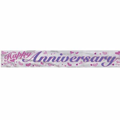 Foil Banner Happy Anniversary